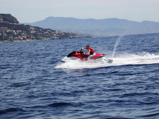 riding the waverunner